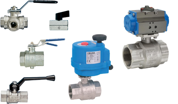 Ball valves, brass
