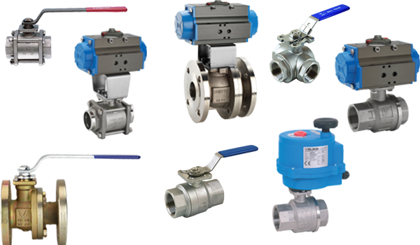 Ball valves, steel